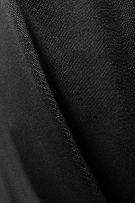 ARTCLUB + NET SUSTAIN Rossini belted silk taffeta-trimmed satin wide-leg pants