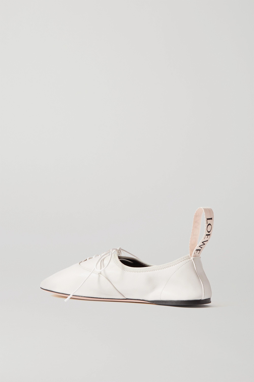 Loewe Chaussures plates à lacer en cuir à logo