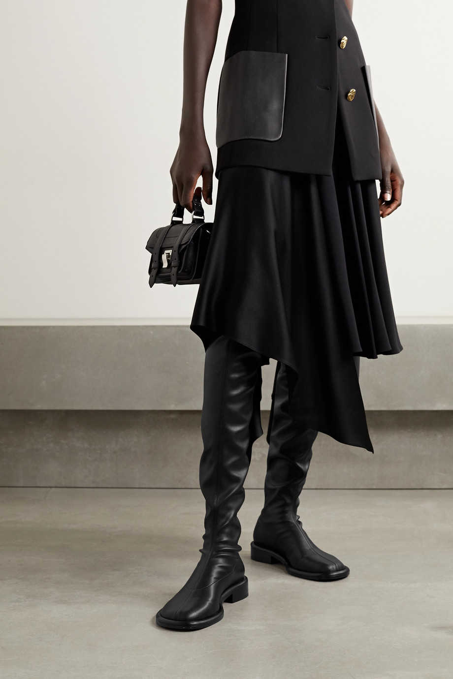 Proenza Schouler Boyd leather over-the-knee boots