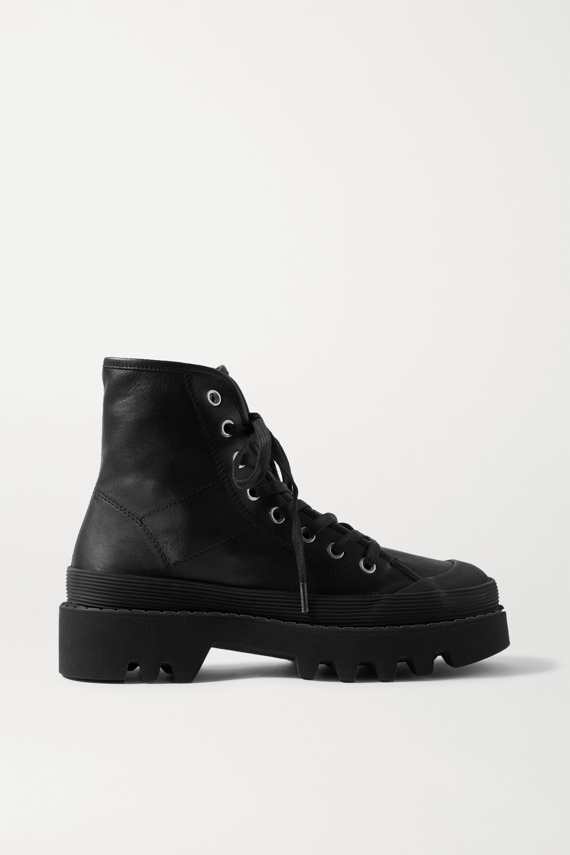Proenza Schouler Rubber-trimmed leather ankle boots