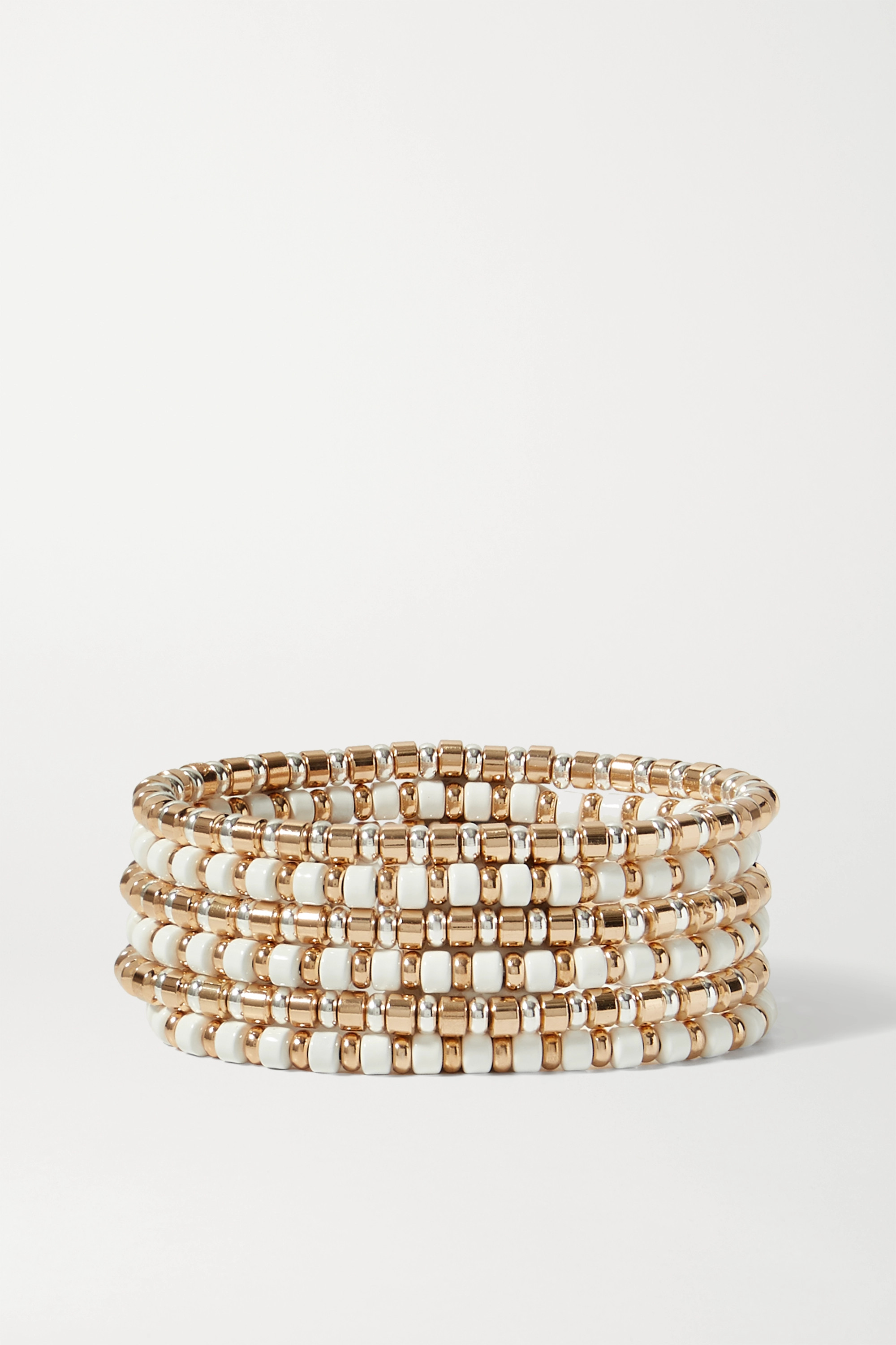 Roxanne Assoulin Little Ones set of six gold and silver-tone and enamel bracelets