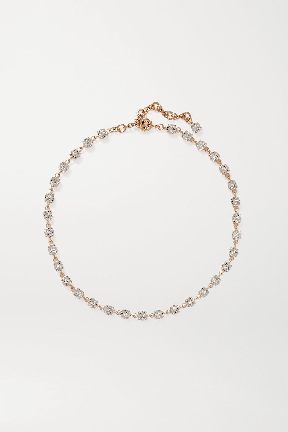Roxanne Assoulin Goldfarbene Kette mit Swarovski-Kristallen