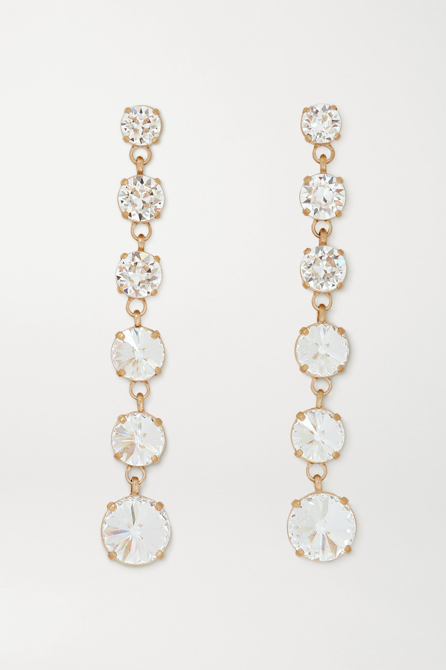 Roxanne Assoulin Gold-tone Swarovski crystal earrings