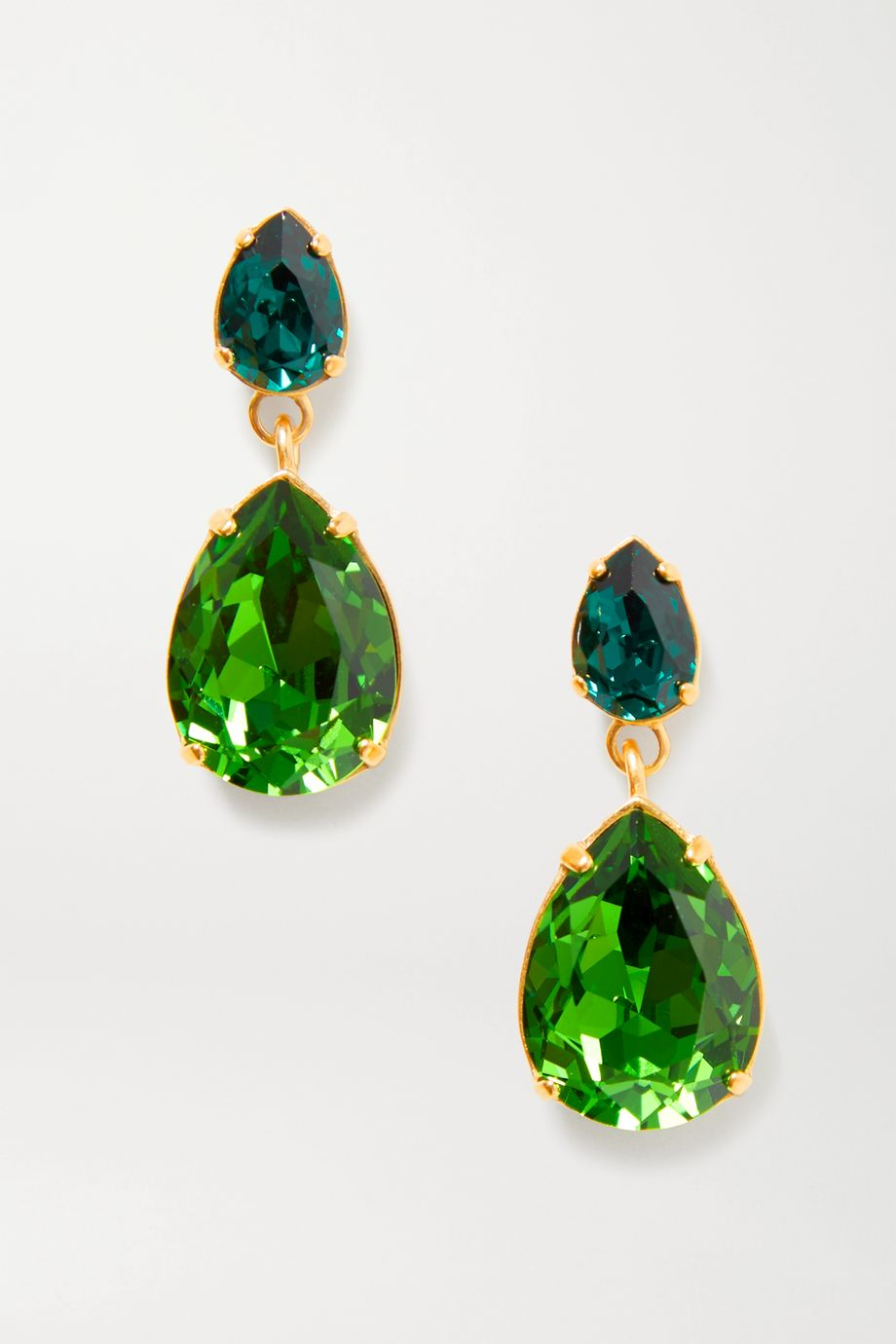 Roxanne Assoulin Double Tear gold-tone crystal earrings