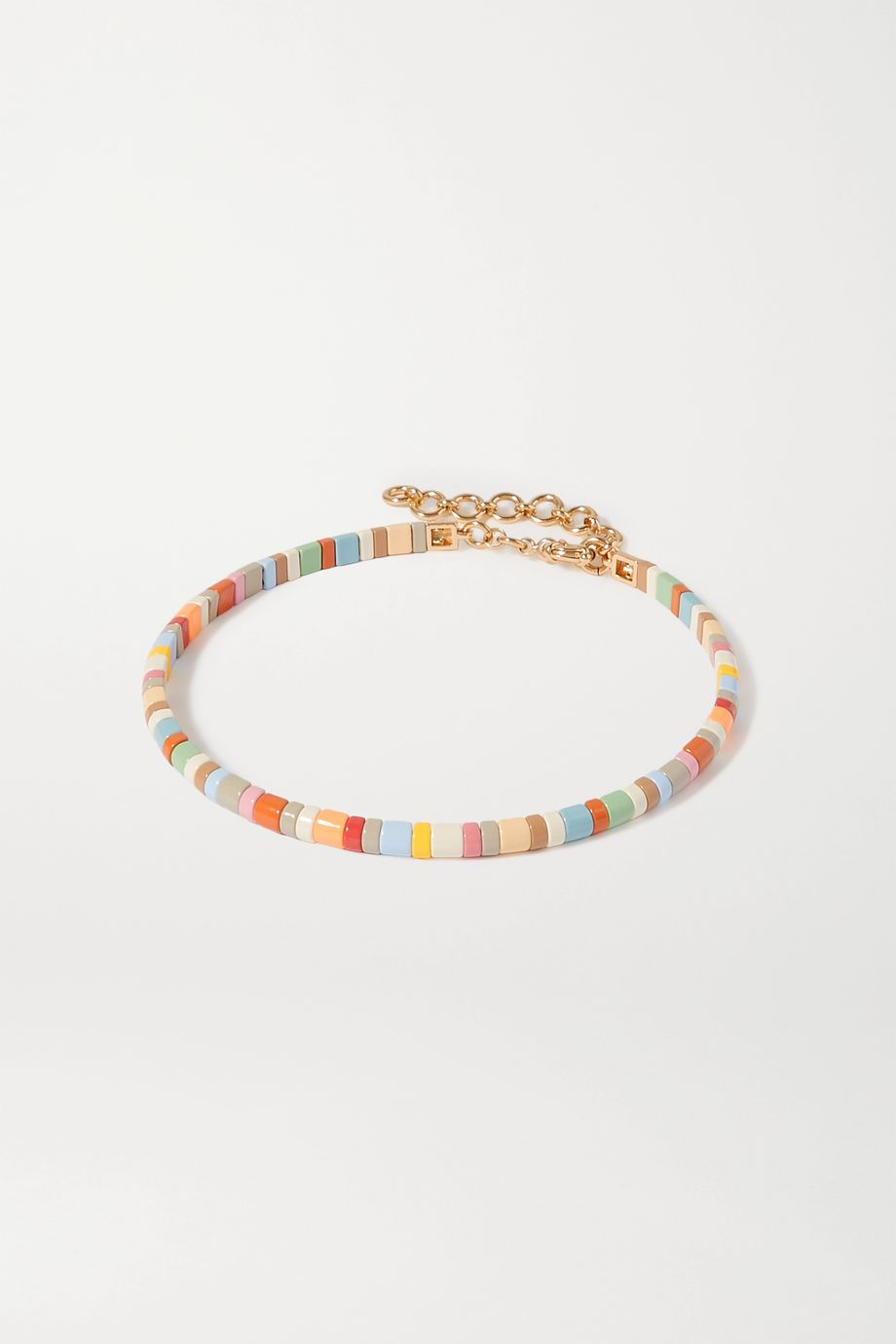 Roxanne Assoulin Enamel and gold-tone choker