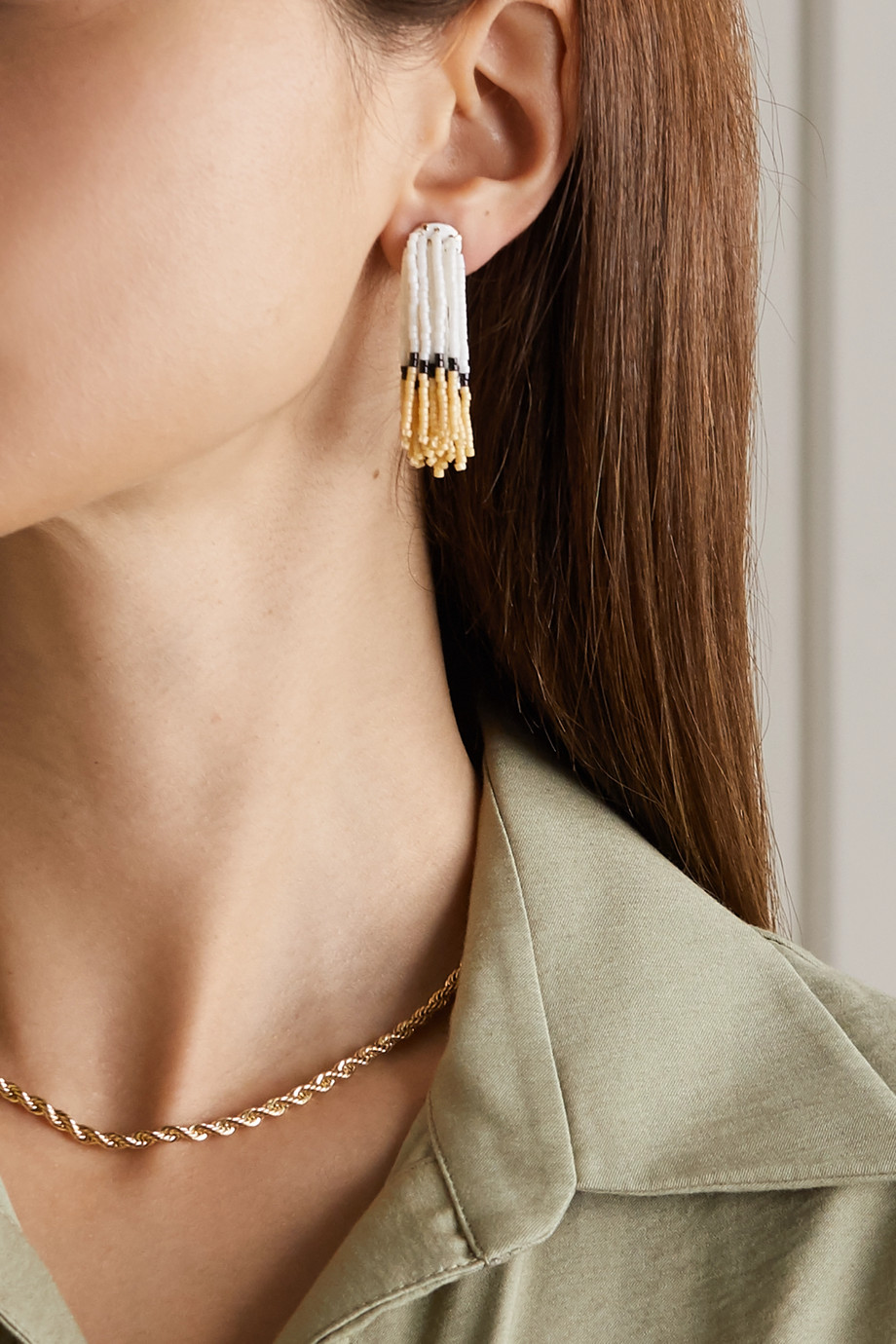 Roxanne Assoulin Bushy enamel and gold-tone beaded earrings