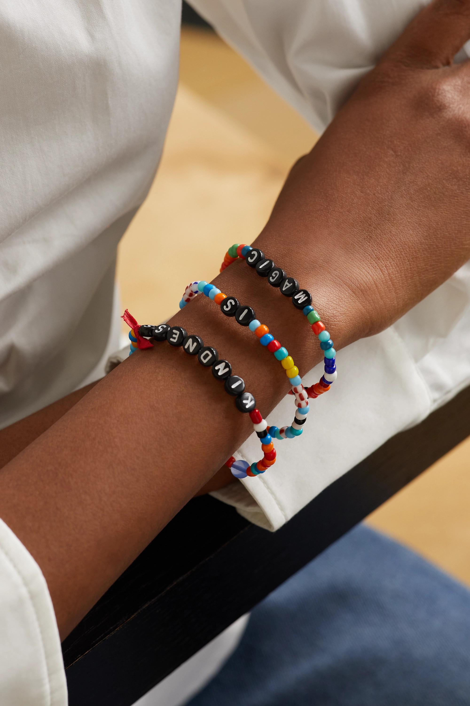 Roxanne Assoulin Kindness is Magic set of three enamel bracelets