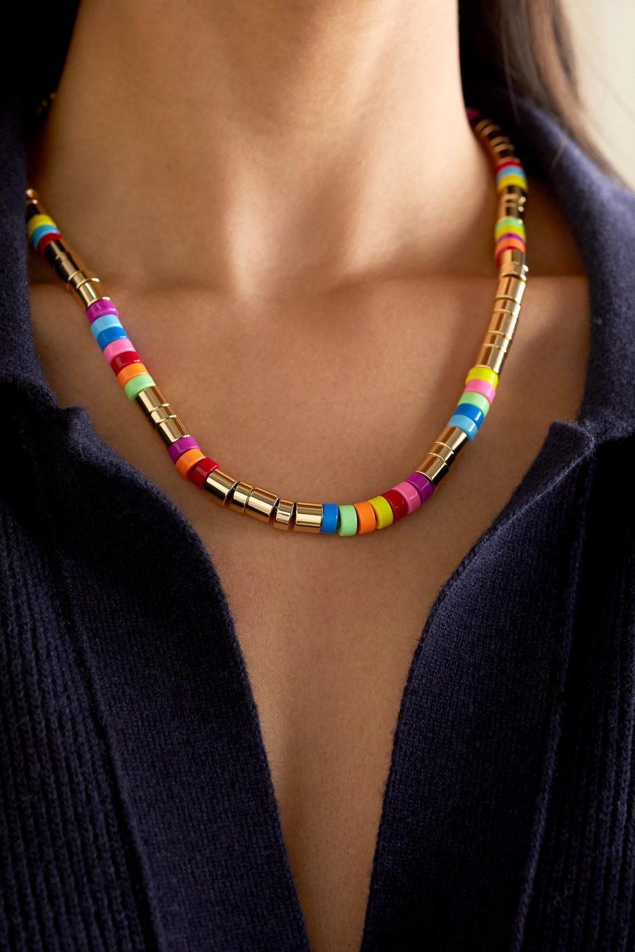 Roxanne Assoulin Kette mit Emaille und goldfarbenen Details