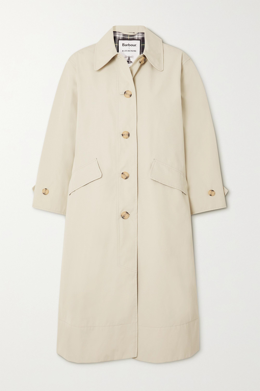 Barbour + ALEXACHUNG Julie belted gabardine coat