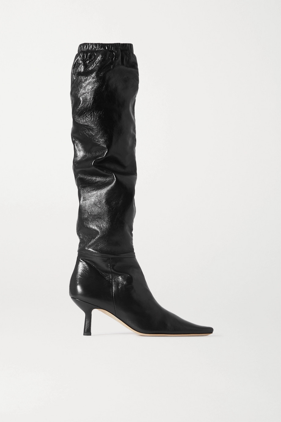 BY FAR Gwen leather knee boots