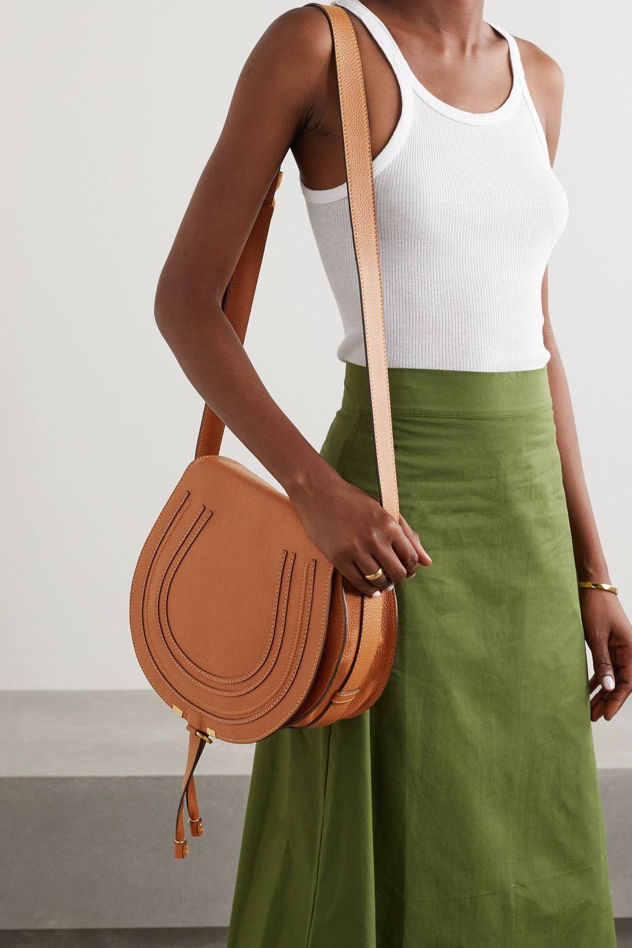 Chloé Marcie medium textured-leather shoulder bag
