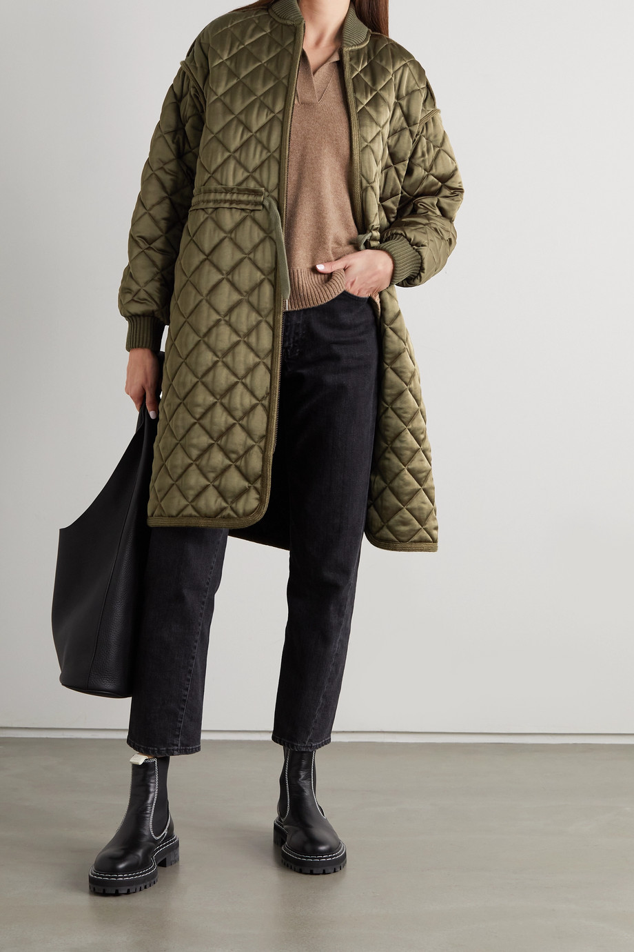See By Chloé Quilted satin coat