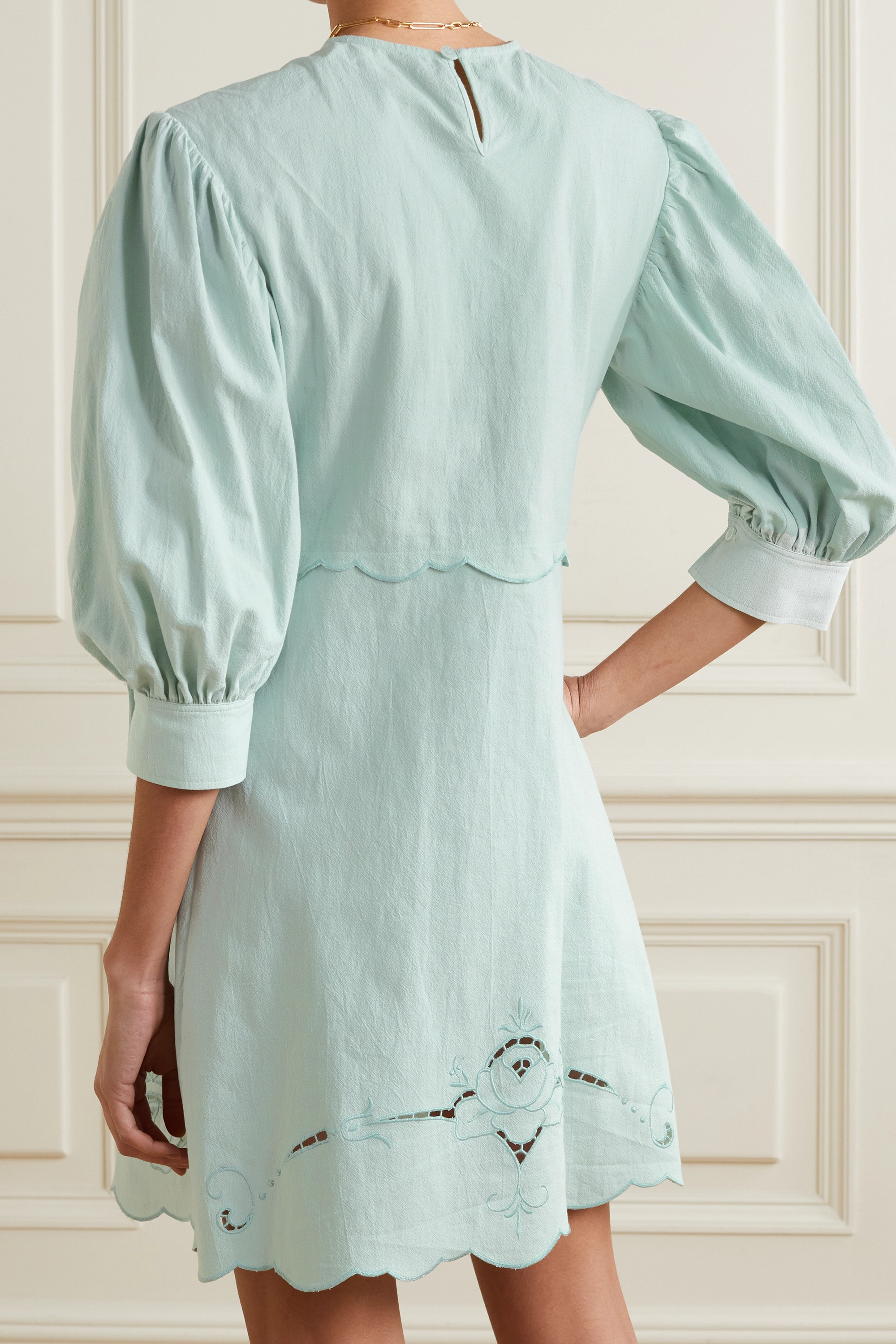 See By Chloé Broderie anglaise cotton mini dress