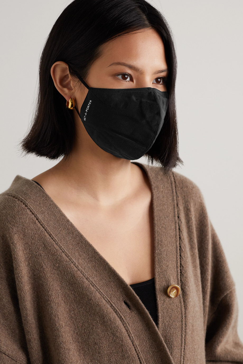 NET-A-PORTER Printed recycled silk-crepe face mask