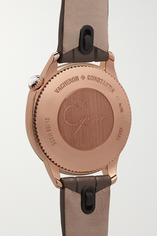 Vacheron Constantin Égérie 30 mm Uhr aus 18 Karat Roségold mit Diamanten und Alligatorlederarmband