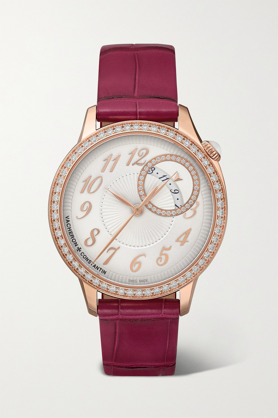 Vacheron Constantin Montre en or rose 18 carats et diamants Égérie Automatique 35 mm