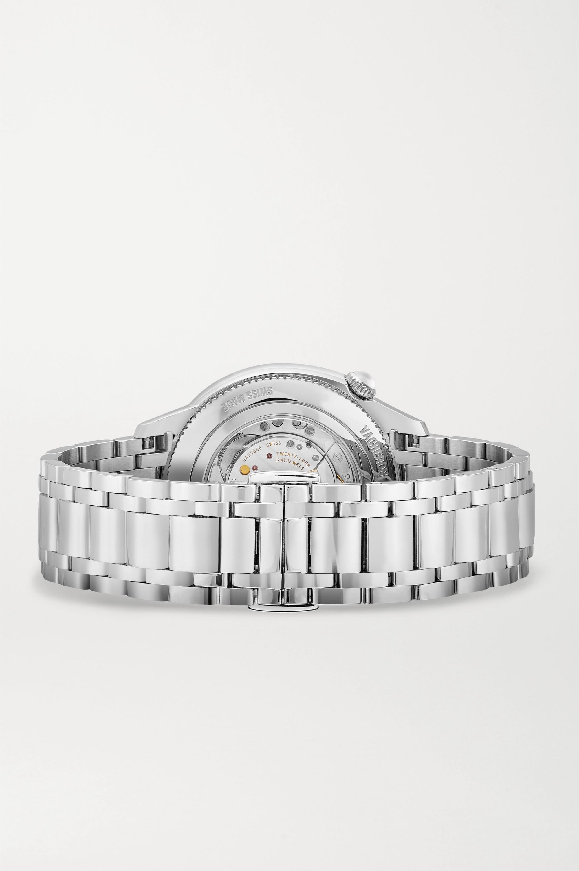 Vacheron Constantin Egérie Automatic 35mm stainless steel and diamond watch