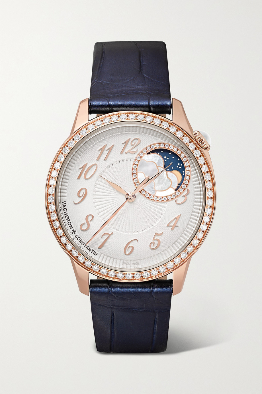 Vacheron Constantin Montre en or rose 18 carats et diamants Égérie Automatique 37 mm