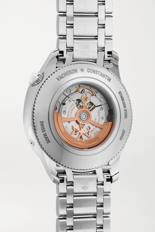 Vacheron Constantin Montre en acier inoxydable et diamants Égérie Automatique Moon-Phase 37 mm