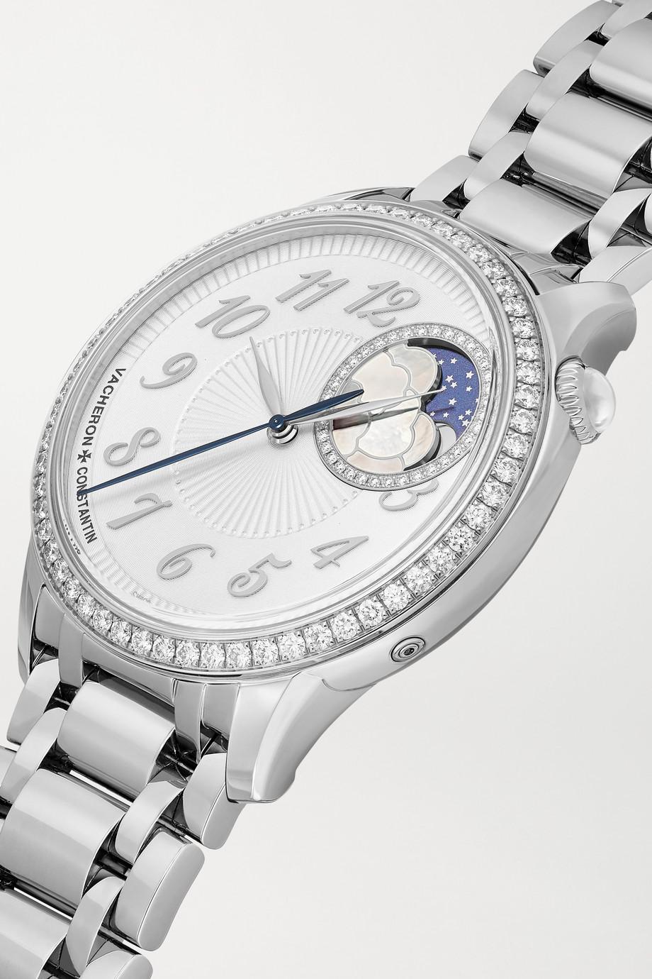 Vacheron Constantin Egérie Automatic Moon-Phase 37 mm Uhr aus Edelstahl mit Diamanten