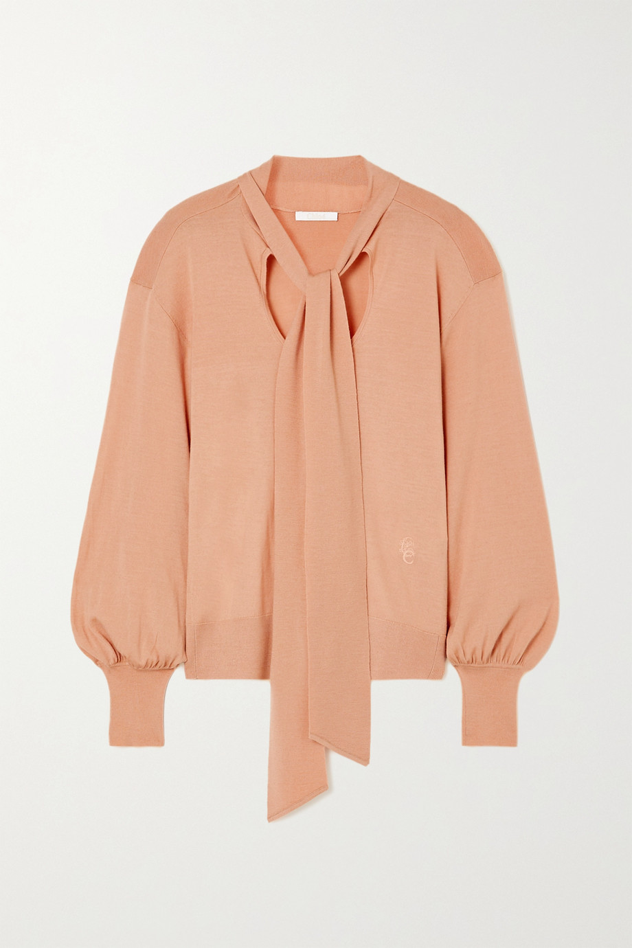Chloé Tie-detailed wool sweater