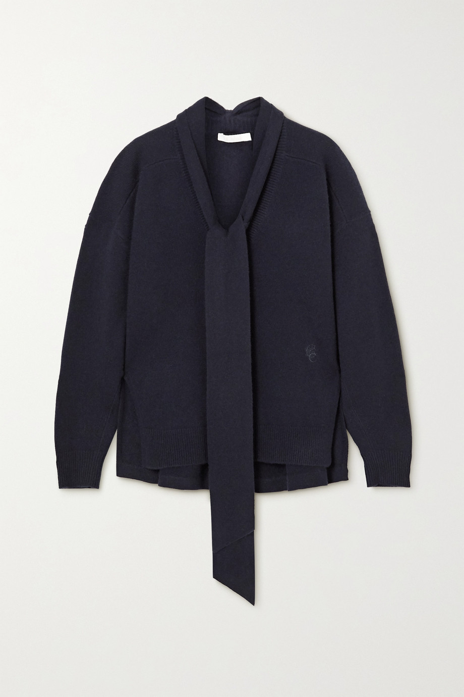 Chloé Tie-detailed cashmere sweater