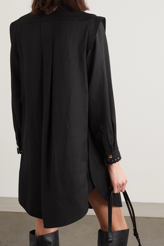 Chloé Pintucked gabardine mini dress