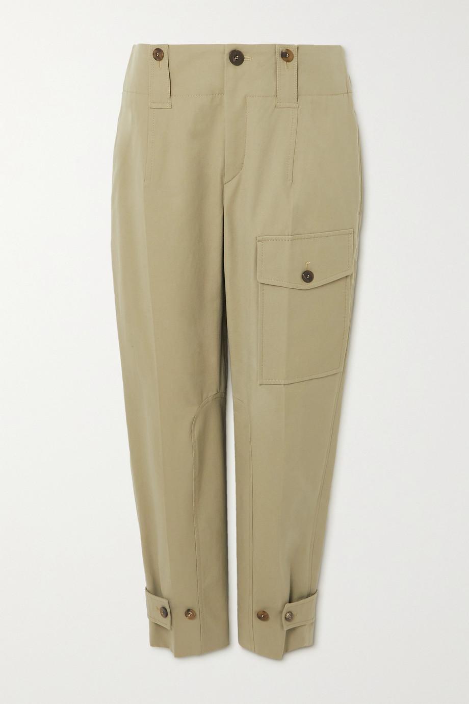 Chloé Cotton-blend canvas straight-leg cargo pants