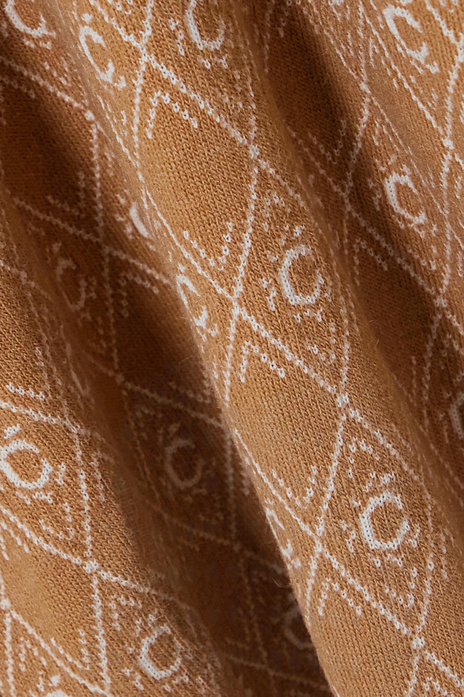 Chloé Hoodie aus Jacquard-Strick aus einer Wollmischung