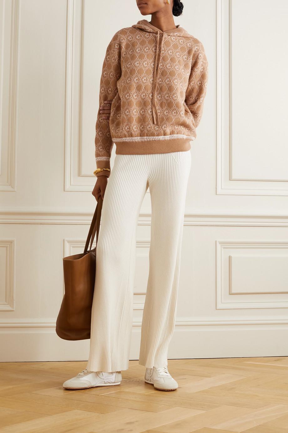 Chloé Jacquard-knit wool-blend hoodie