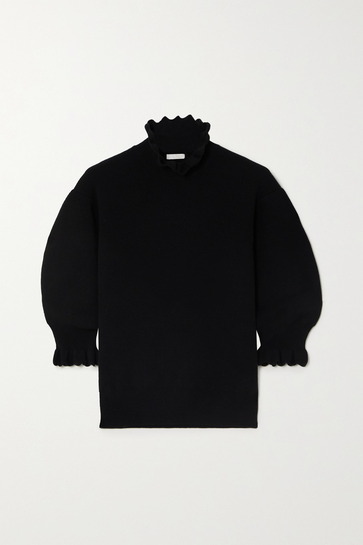Chloé Pullover aus einer Wollmischung mit Wellenkante