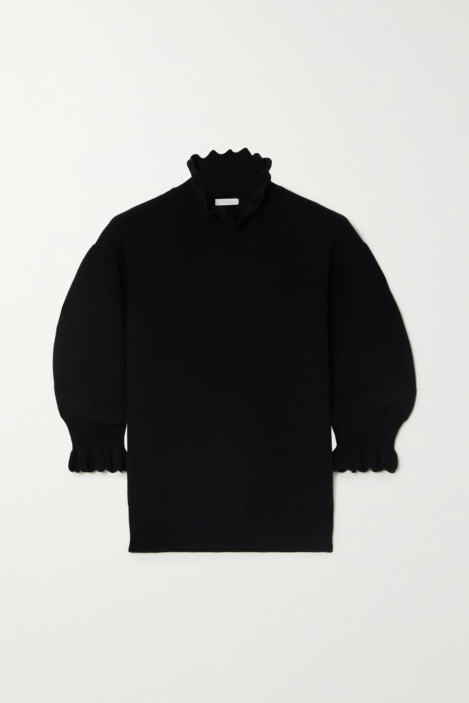 Chloé Scalloped wool-blend sweater