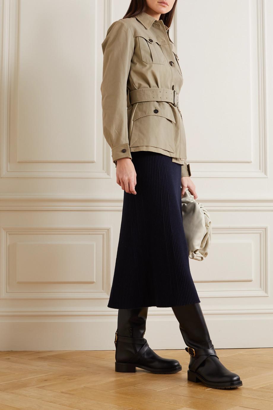 Chloé Belted cotton-blend canvas jacket