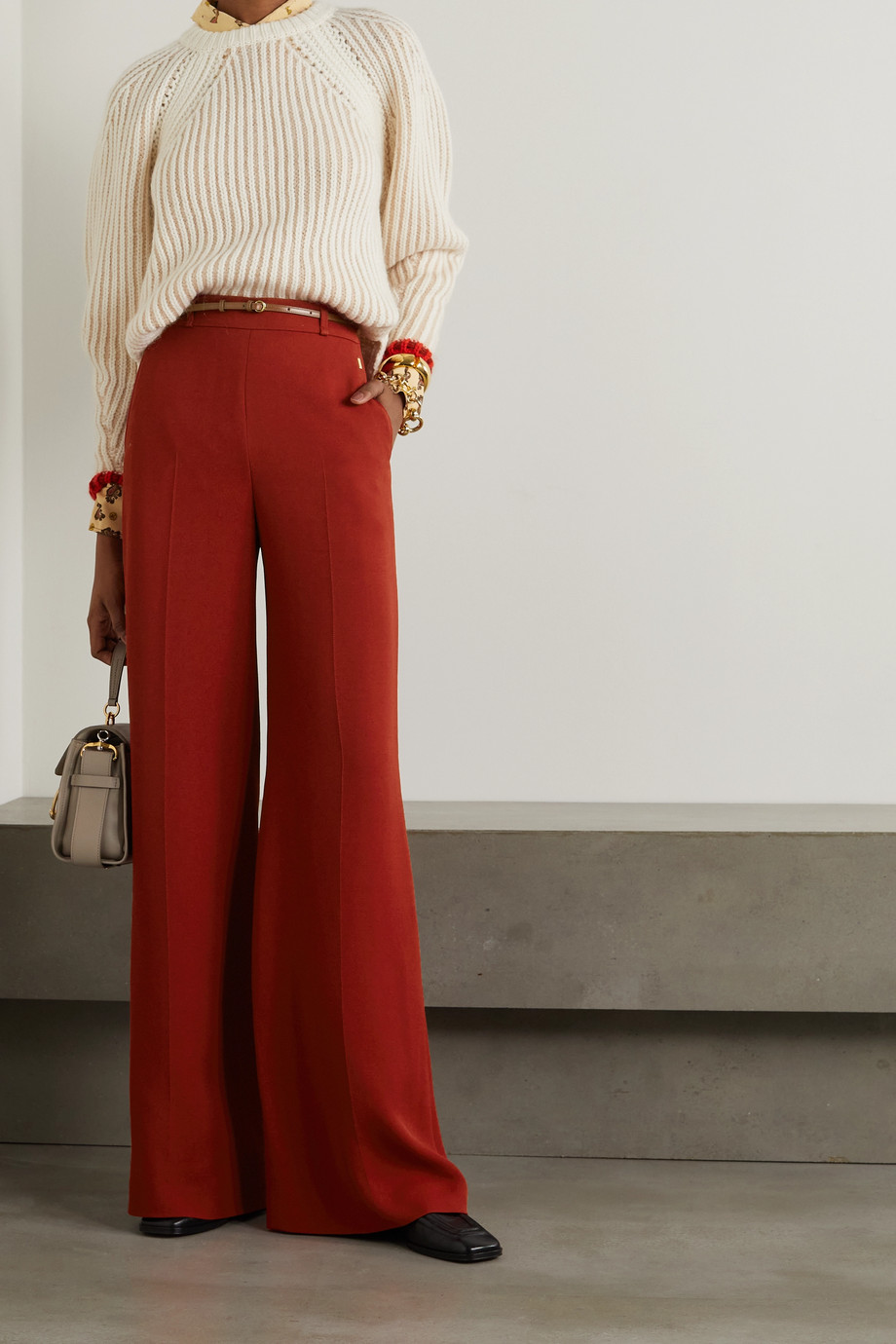 Chloé Crepe wide-leg pants
