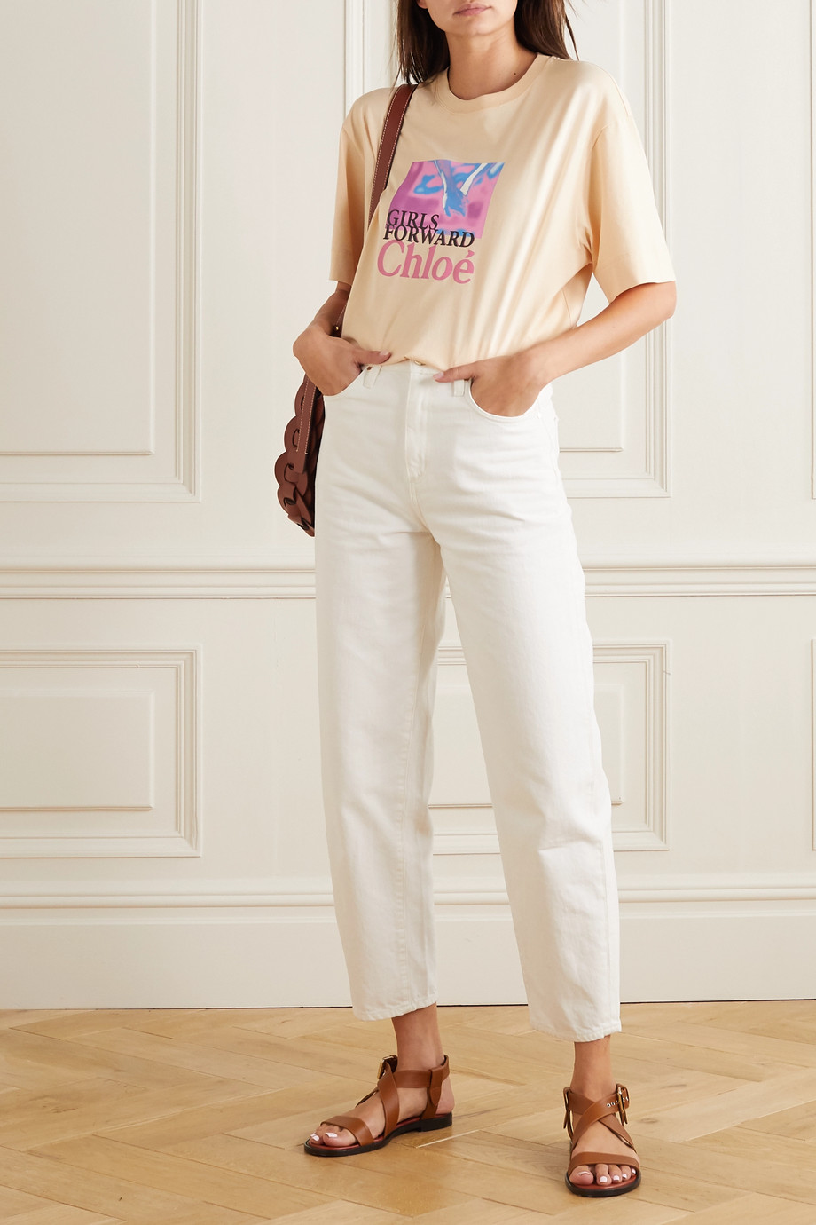 Chloé + UNICEF printed organic cotton-jersey T-shirt