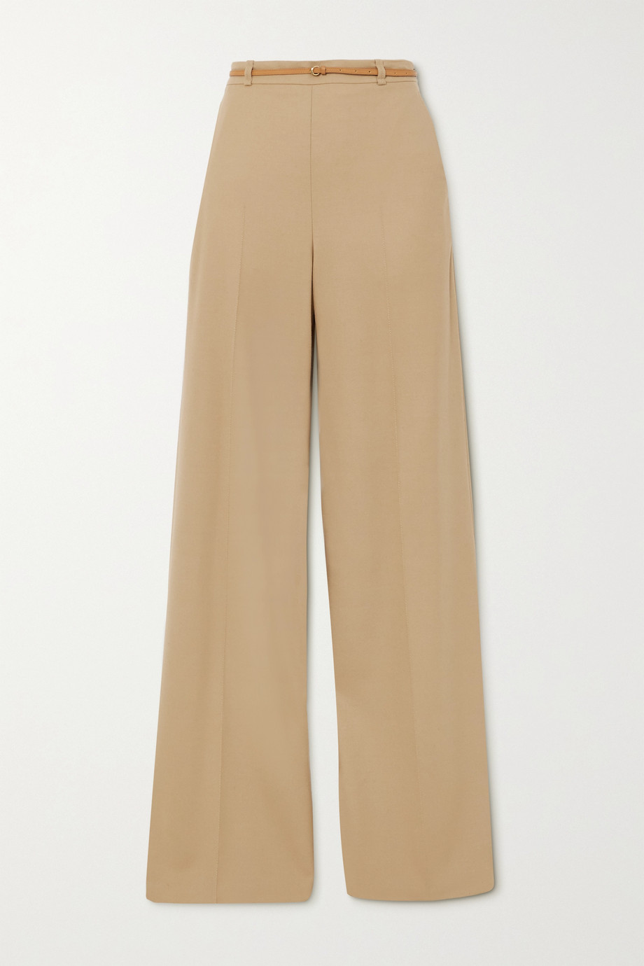 Chloé Belted twill wide-leg pants