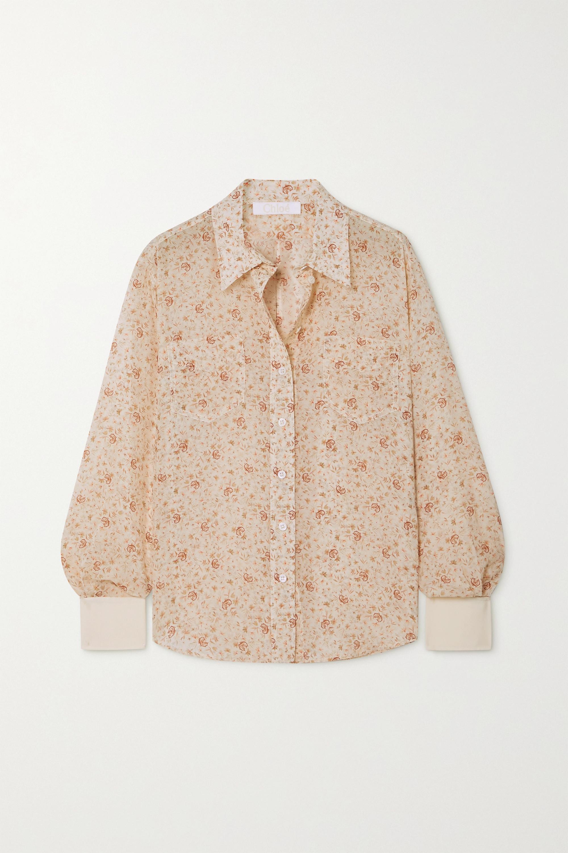 Chloé Chemise en soie à imprimé fleuri