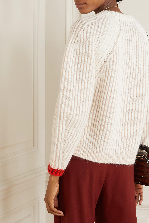Chloé Pullover aus einer gerippten Wollmischung