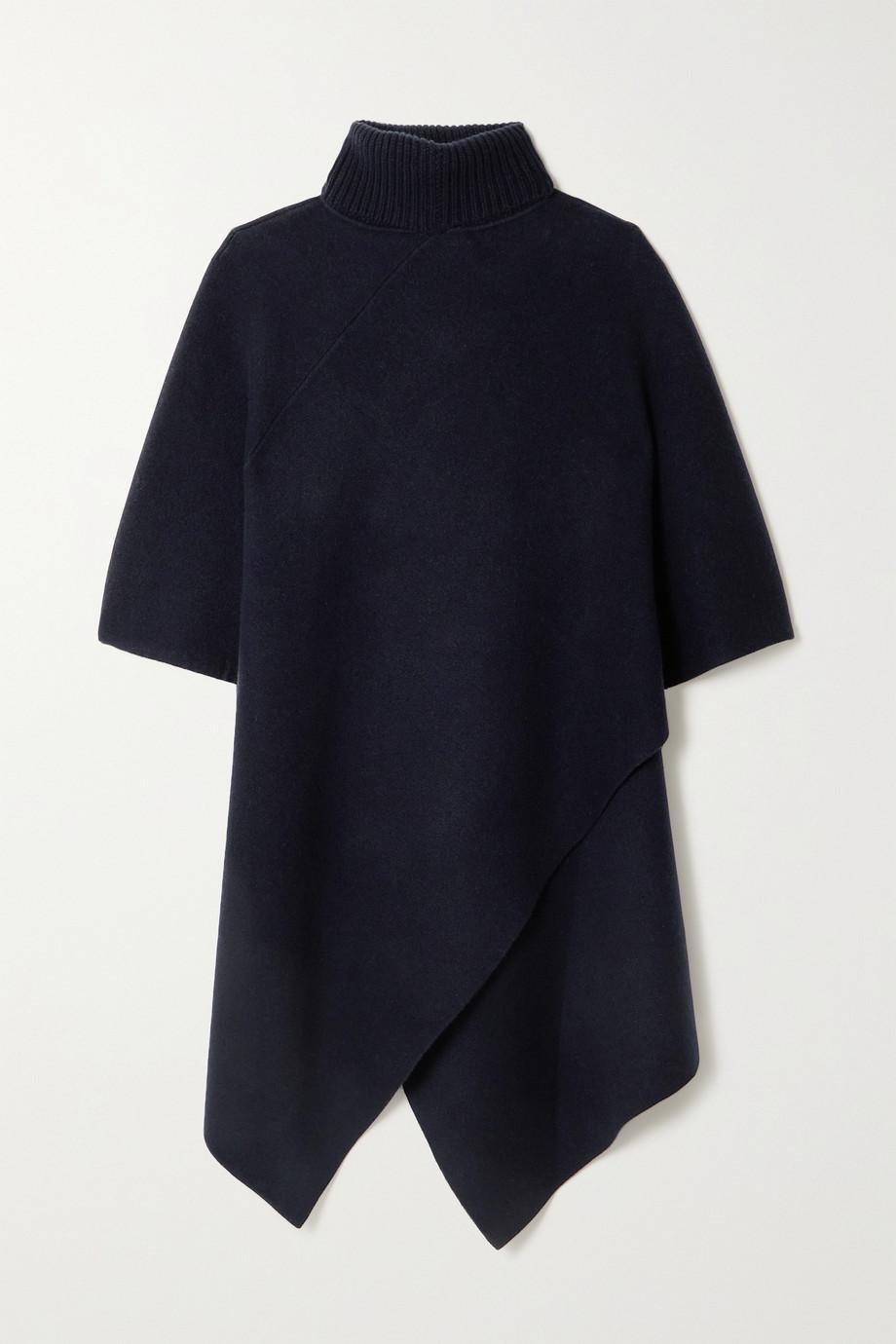 Chloé Asymmetric cashmere turtleneck poncho