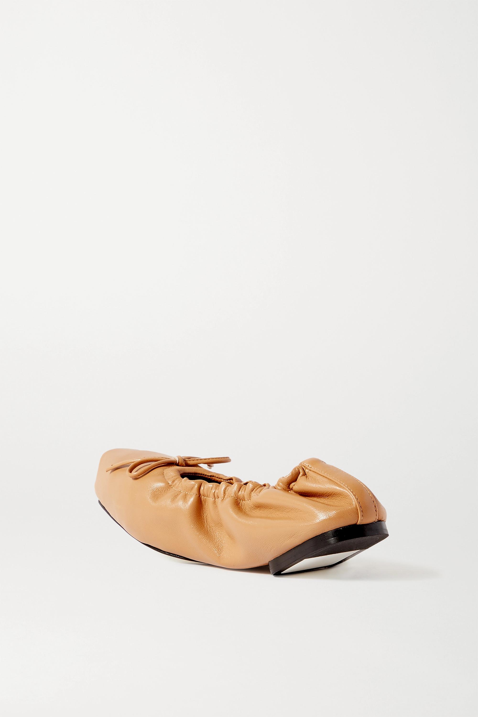 Khaite Ashland bow-embellished leather ballet flats