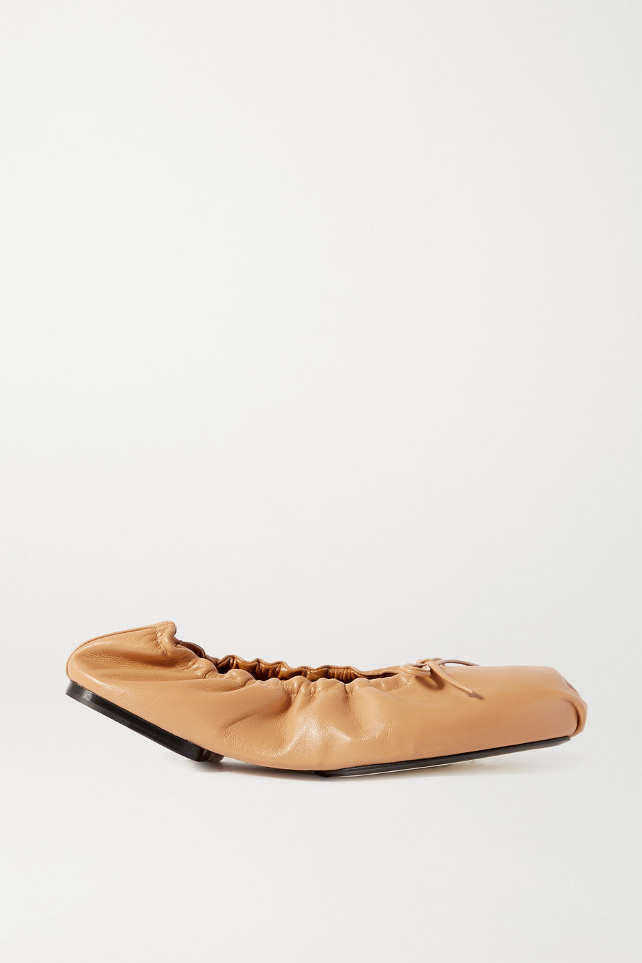 Khaite Ashland bow-embellished leather ballet flats