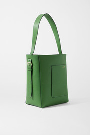 Valextra Secchiello small textured-leather tote