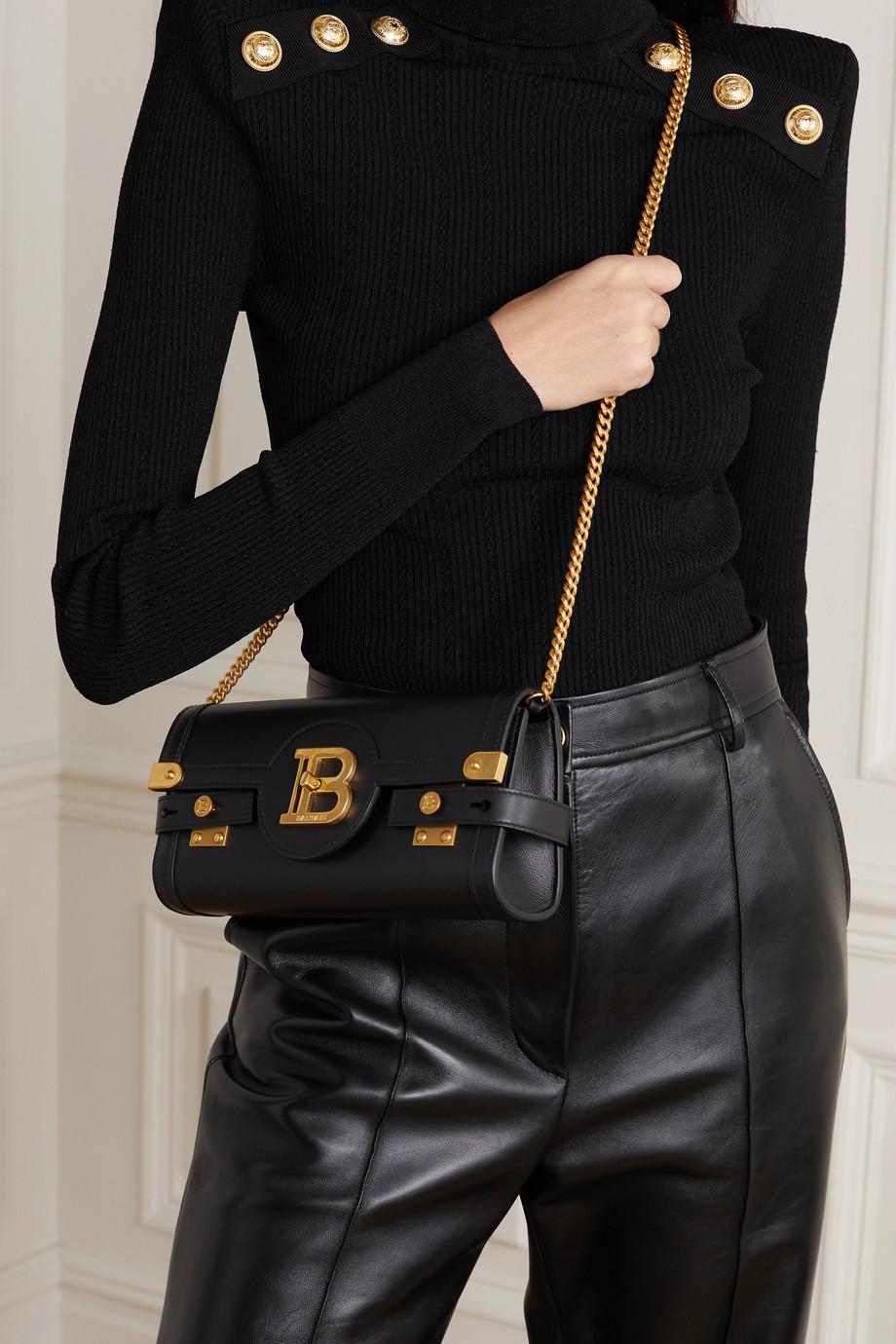 Balmain B-Buzz leather shoulder bag