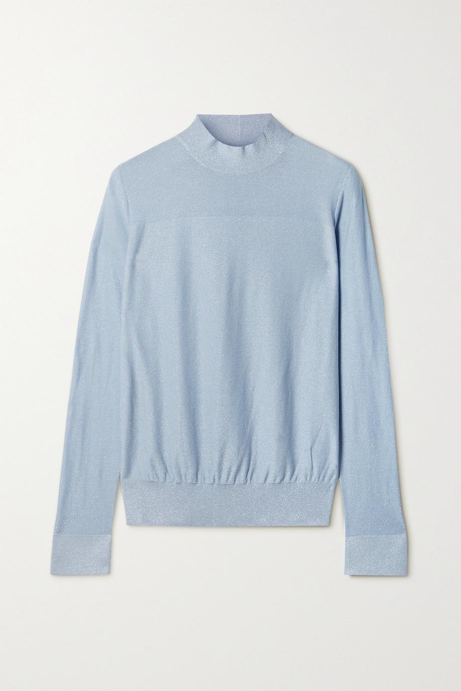 Akris Metallic mulberry silk-blend sweater