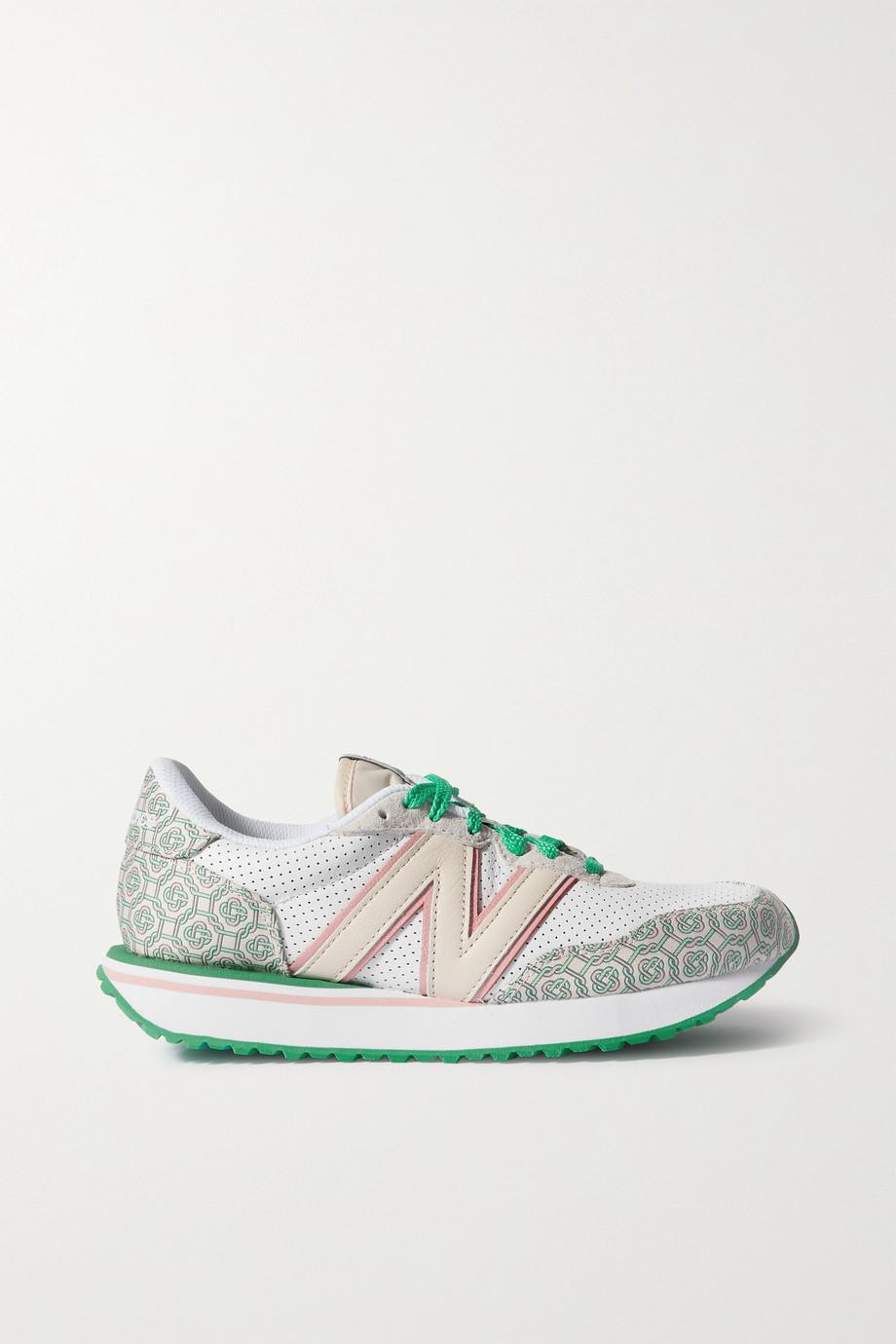 New Balance + Casablanca 238 Sneakers aus Leder, Jacquard mit Logomuster und Veloursleder