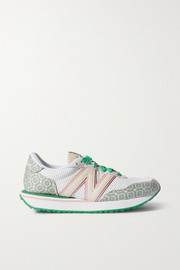 New Balance + Casablanca 238 suede-trimmed logo-jacquard and leather sneakers