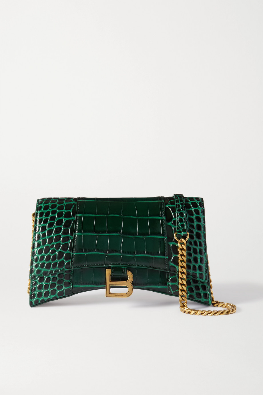 Balenciaga Hourglass croc-effect leather tote
