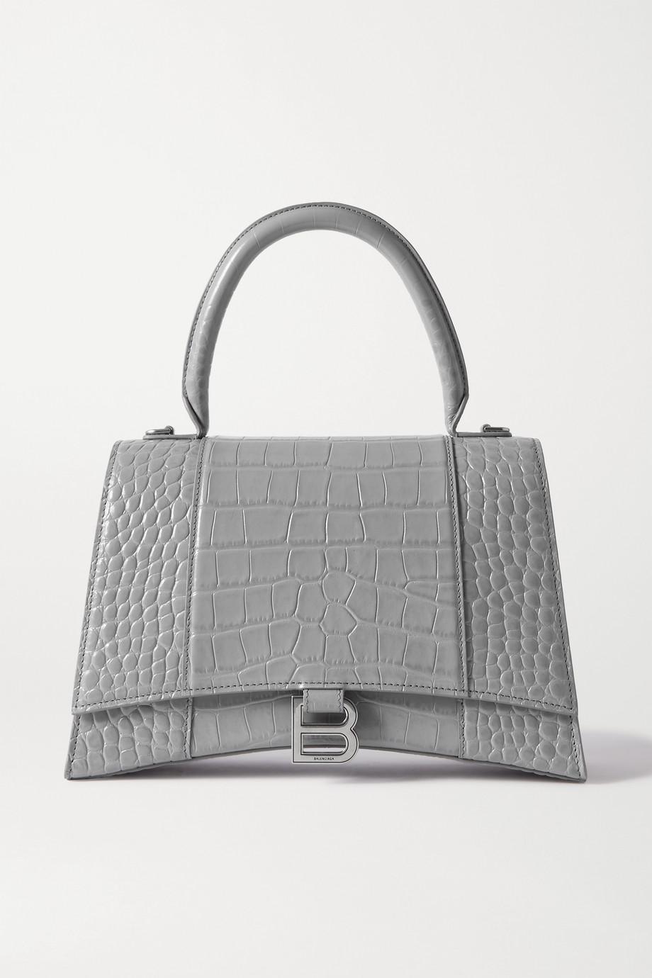 Balenciaga Hourglass medium croc-effect leather tote