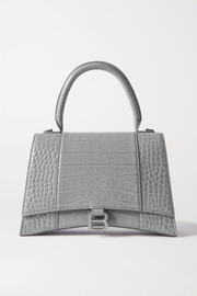 Balenciaga Hourglass medium croc-effect leather tote
