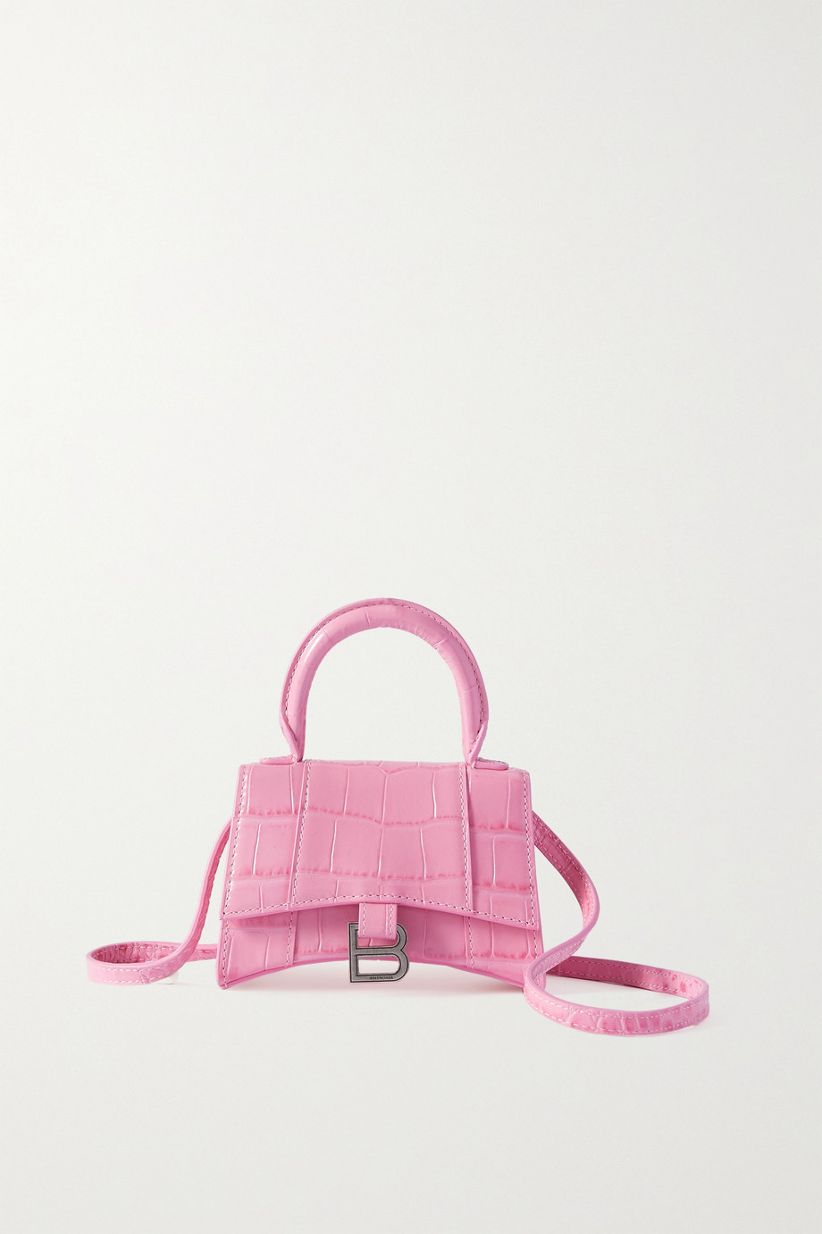 Balenciaga Hourglass nano croc-effect leather tote